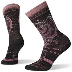 Smartwool Mountain Magpie Crew Socks - Womens-Black Heather
