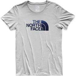 The North Face Half Dome Tee SS - Womens-TNF Light Grey Heather / Urban Navy Multi