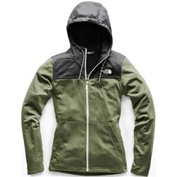 The North Face Tech Mezzaluna Hoodie - Womens-Four Leaf Clover / Asphalt Grey
