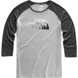 The North Face Heritage 3/4 Baseball Tri-Blend Tee - Womens-TNF Light Grey Heather / TNF Dark Grey Heather