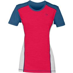 Norrona Wool T-Shirt - Womens-Jester Red / Denimite