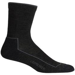 Icebreaker Lifestyle 3Q Crew Socks - Cool-Lite - Mens-Jet Heather / Timberwolf
