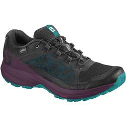 Salomon XA Elevate GTX - Womens-Black / Potent Purple / Tropical Green