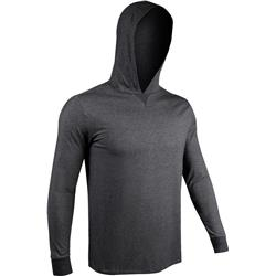 2Undr Hooded LS Tee - Mens-Charcoal