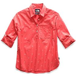 The North Face Bayward LS Shirt - Womens-Spiced Coral Outdoor Print
