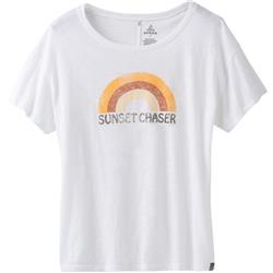 Prana Chez Tee - Womens-White Sunset