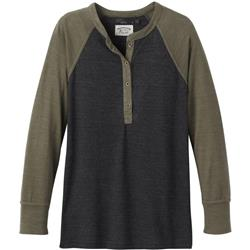 Prana Cozy Up Henley - Womens-Charcoal Cargo Heather