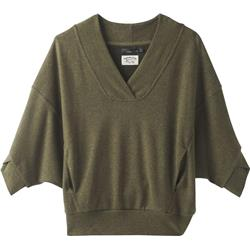 Prana Cozy Up Pullover - Womens-Cargo Green Heather