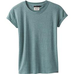 Prana Cozy Up T-Shirt Plus - Womens-Iced Aqua Heather