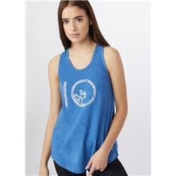 tentree Leafy Ten Tank - Womens-Delft Blue
