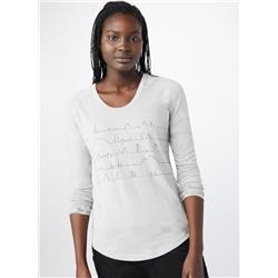 tentree Written Lines LS - Womens-Hi Rise Grey