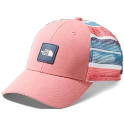 The North Face Mudder Novelty Mesh Trucker-Spiced Coral / TNF White W Variegated Stripe Print