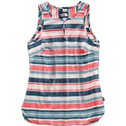 The North Face Sleeveless Bayward Top - Womens-TNF White W Variegated Stripe Print