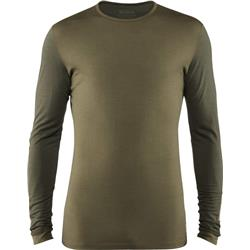 Fjallraven Keb Wool T-Shirt LS - Mens-Laurel Green / Deep Forest