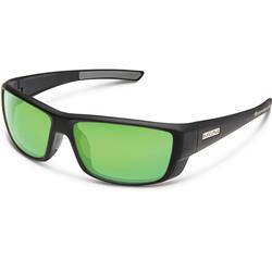 Suncloud Lock, Matte Black Frame, Polarized Green Mirror Lens-Not Applicable