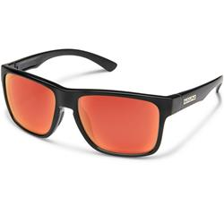 Suncloud Rambler, Black Frame, Polarized Red Mirror Lens-Not Applicable