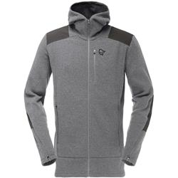 Norrona Tamok Warm/Wool2 Zip Hood - Mens-Mercury
