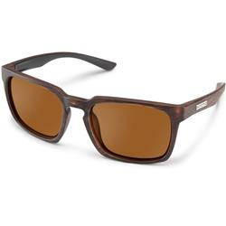 Suncloud Hundo, Burnished Brown Frame, Polarized Brown Lens-Not Applicable