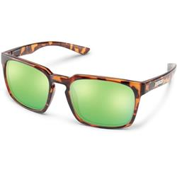 Suncloud Hundo, Tortoise Frame, Polarized Green Mirror Lens-Not Applicable