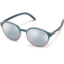 Suncloud Low Key, Green Berry Fade Frame, Polarized Silver Mirror Lens-Not Applicable
