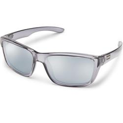 Suncloud Mayor, Transparent Gray Frame, Polarized Silver Mirror Lens-Not Applicable