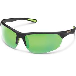 Suncloud Slice, Matte Black Frame, Polarized Green Mirror Lens-Not Applicable