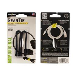 "Gear Tie Reusable Rubber Twist Tie 6"" - 2 Pack"