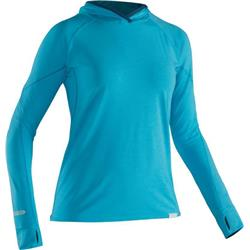 NRS Canada H2Core Silkweight Hoodie - Womens-Blue Atoll