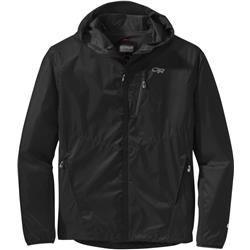Outdoor Research Helium Hybrid Hooded Jacket - Mens-Black / Charcoal