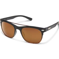 Suncloud Tabor, Matte Black Tortoise Fade Frame, Polarized Brown Lens-Not Applicable