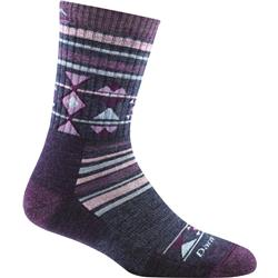 Darn Tough Socks Nobo Micro Crew Cushion Socks - Womens-Purple