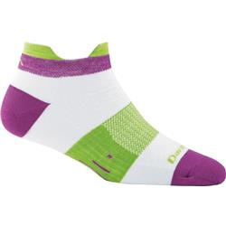 Darn Tough Socks Pulse No Show Tab Light Cushion Socks - Womens-White