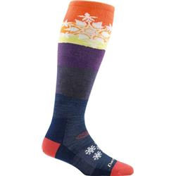 Darn Tough Socks Snowflake OTC Light Socks - Womens-Sunset