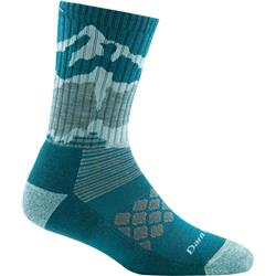 Darn Tough Socks Three Peaks Micro Crew Light Cushion Socks - Womens-Teal