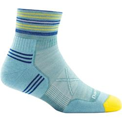 Darn Tough Socks Vertex 1/4 Sock Ultra-Light Cushion Socks - Womens-Light Blue