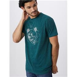 tentree Space Bear Tee - Mens-Atlantic Deep Green
