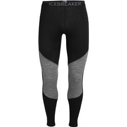 Icebreaker 200 Oasis Deluxe Leggings - Mens-Black / Gritstone Heather
