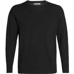 Icebreaker Carrigan Reversible Sweater Sweatshirt - Mens-Black