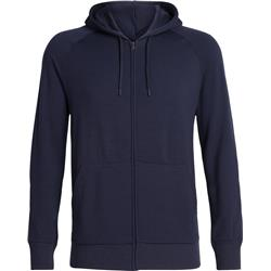 Icebreaker Helliers LS Zip Hood - Mens-Midnight Navy