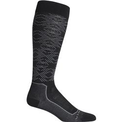 Icebreaker Ski+ Ultralight Over The Calf Crystalline - Womens-Black