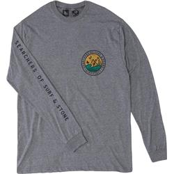 Hippy Tree Southpoint LS Tee - Mens-Heather Grey