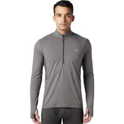 Mountain Hardwear Ghee LS 1/2 Zip - Mens-Heather Shark