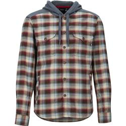 Marmot Oheny Heavyweight Flannel Hoody - Mens-Brick / Steel Onyx