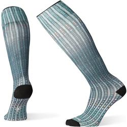 Smartwool Compression Virtual Voyager Print Over The Calf Socks - Womens-Black