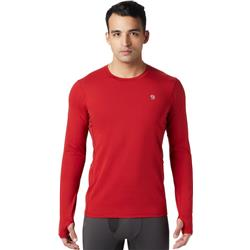 Mountain Hardwear Ghee LS Crew - Mens-Dark Brick