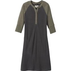 Prana Cozy Up Henley Dress - Womens-Charcoal Heather