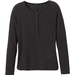 Prana Hensley Henley - Womens-Charcoal