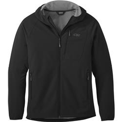Outdoor Research Ferrosi Grid Hooded Jacket - Mens-Black