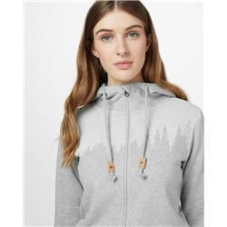 tentree Juniper Zip Hoodie - Womens-Hi Rise Grey Heather