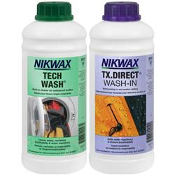 Nikwax Waterproofing Hard Shell Duo-Pack 34oz / 1L - Tech Wash & TX.Direct Wash-In-Not Applicable